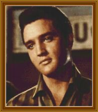 """GOLDEN OLDIE ELVIS PRESLEY""  IS A 14ct CROSS STITCH CHART Pattern"