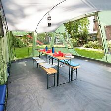 skandika Nordland 6 Person/Man Family Tent Sewn-in Floor Camping Green New