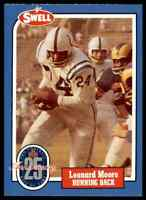 1988 Hall of Fame BLUE #86 Lenny Moore RARE Baltimore Colts / Penn State