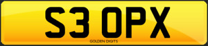 S3 OPX PRIVATE CHERISHED PERSONALISED REG REGISTRATION NUMBER PLATE AUDI S3 RS3