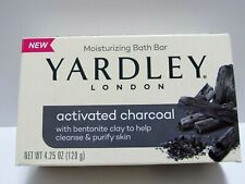 Yardley London Activated Charcoal With Clay Moisturizing Bar Soap 4.25 oz New
