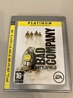 Battlefield: Bad Company Platinum ! Sony PS3 ! COMPLETE ! Tested ! 🔥