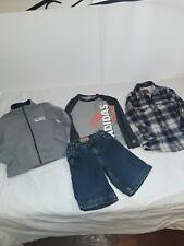 Boys size 5 NAME BRAND clothes adidas,oshkosh,carters,oldnavy,fleece,flannel. ..