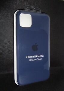 Genuine Official Apple iPhone 11 Pro Max Silicone Case Midnight Blue MWYW2ZM/A