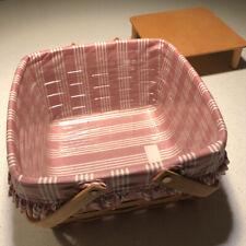 Longaberger 1996 Picnic Cake Basket Protector Liner Riser Fabric Combo