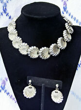VIntage 1950's-60's Napier Shell Necklace with Matching Post Earrings - MCM Nice