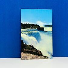 Postcard vintage post card ephemera Niagara Falls Canada horseshoe american road