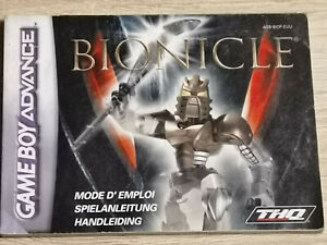 Bionicle Game Boy Gameboy Advance GBA (Manual Only)