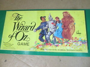 Vintage The Wizard Of Oz Board Game 1974 Cadaco Complete Game Sealed Except Top