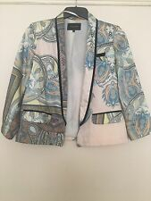 River Island Size 8 Paisley Summer Jacket 3/4 Sleeves Spring Festival Patterned