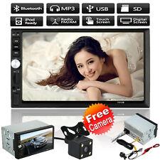 "Double 2 Din 7 ""HD Car tactile MP5 stéréo Lecteur MP3 Radio Bluetooth TV USB+Cam"