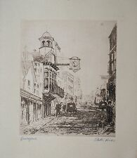 Etching by Cecil Tatton-Winter (1895-1954) townscape, Guildford, Surrey.