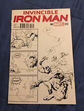 Invincible Iron Man #1 Putri Deadpool B&W Sketch Variant [Marvel Comics, 2015]