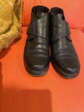 St. John's Bay Autumn Black Leather Upper Velcro Women's 8 M (B) Ankle Boots