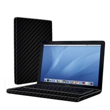 Skinomi Carbon Fiber Black Skin Cover for Apple Macbook 13 in. (2007)
