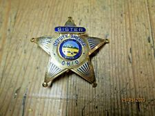 rare  obsolete vintage sister state of Ohio 5 star badge