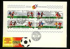 Postal History Oversized FDC #B96 Cook Islands 1981 Soccer World Cup Sports
