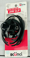 1 Scunci Extra Thick Hair Jaw Clip Color Black  Large Opening New