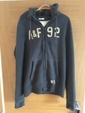 Extra Large Gris Homme Abercrombie and Fitch Sweat à Capuche Pull