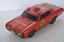 Vintage Battery F.D No.8 A. 5784 Fire Chief Litho Car Tin Toy , Japan