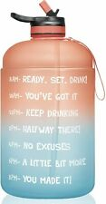 1 Gallon/128oz Motivational Sport Water Bottle with Time Marker