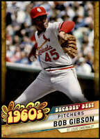 Bob Gibson 2020 Topps Decade's Best Series 2 5x7 Gold #DB-14 /10 Cardinals