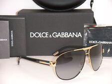 DOLCE & GABBANA 2099 DG 2099 1081/8G 61MM BLACK GOLD/GREY GRADIENT NEW AUTHENTIC