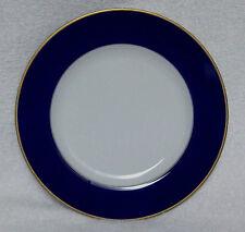 """King Frederick Sigma Fine Porcelain 6.25"""" Plate/Saucer Cobalt Border Gold Trim"""