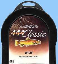 NEW Cortland 444 Classic WF4 Floating Peach Color Fly Fishing Line