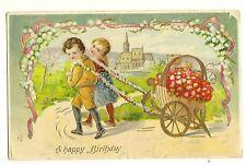 Gold Gilt Gel Happy Birthday Children Flowers 229 Series