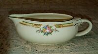 Taylor Smith Taylor TST11 Gravy Sauce Boat Floral Bouquets Yellow Blue Band EXC