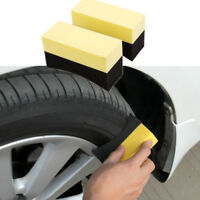 EG_ 2PCS AUTO CAR WHEEL TYRE CLEANING DRESSING WAXING POLISHING BRUSH SPONGE TOO