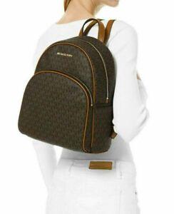 MICHAEL KORS Bag ABBEY MD BACKPACK PVC/ leather brown 35F8GAYB2B