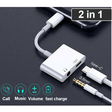 US 2in1 USB Type C To 3.5mm AUX Audio Headphone Jack & Charge Adapter DAC Cable