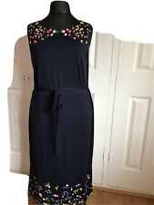 Boden Midi Sleeveless Navy Dress Size 22