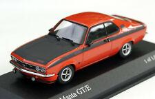 Opel Manta A GT/E Bj. 1974-1975, ziegelrot, Minichamps-Modell im M. 1:43, OVP