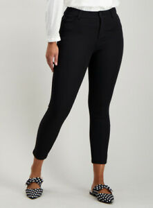 NEW WITH TAGS SAINSBURY'S TU BLACK STRETCH TREGGINGS TROUSERS. SIZE 16 REGULAR.