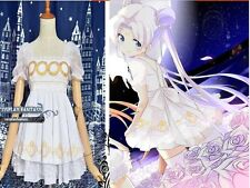 Sailor Moon Princess Serenity Cosplay Costume Sweet Lolita Dress Chiffon White