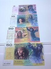 Pirates des caraibes Set de 4 billets de banque de fantaisie set-idée cadeau de Noël
