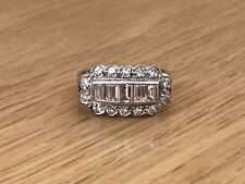 Fabulous 18ct White Gold 1.4ct Diamond Cluster Cocktail Dress Ring