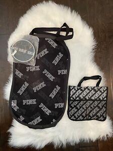 Victoria's Secret Pink Logo Black Laundry Bag Intimates Wash Bag New Rare VS
