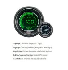 Genuine Prosport Evo 52mm Green White Gauge Water Temp Temperature Deg C