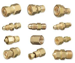 Cylinder to Regulator Acetylene Adaptors. CGA-200, CGA-300, CGA-510 and CGA-520