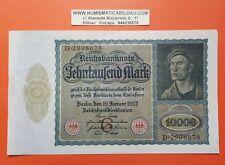 ALEMANIA 10000 Mark 1922 BERLIN Pick 71 EBC Ro.68 Reichsmark Reichsbanknoten XF