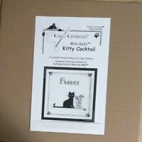Calico Crossroads Mini Kats by Kelly Counted Cross Stitch Chart  KITTY COCKTAIL
