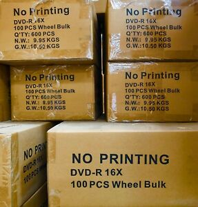600 x DVD-R Silver Thermal Printable 6000(10 Box) Pick Up Can Save Shipping Fee.