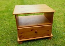 LARGE PINE BEDSIDE CABINET DRAWER TABLE DEEP / WIDE
