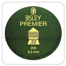 Bisley Premier .22 (5.5mm) ~Tin of 200 pellets for Air Gun Rifle Pistol
