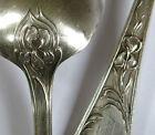 MÉNAGÈRE ERCUIS, très belle ménagère ercuis en métal argenté, 61 pièces, IRIS .