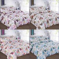 Floral Tilly Duvet Quilt Cover Set Size Single Double King Super Pillowcases